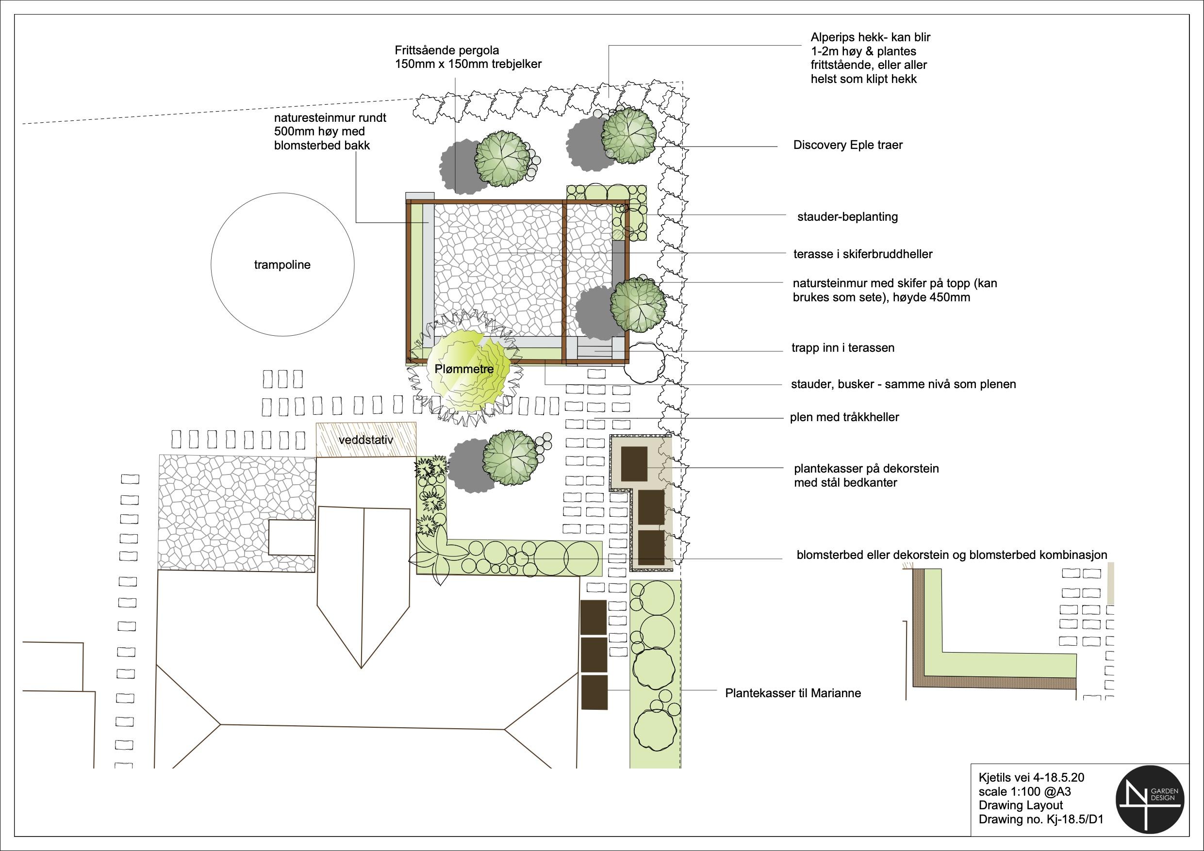 plan drawing of city garden oslo